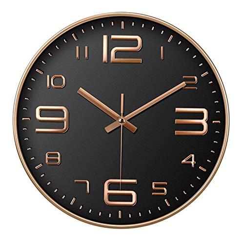 Corto creativo silencio moderno diseño grande pared reloj de la pared cocina sala de estar decoración de la decoración de la batería de la pared de la pared de mute reloj de reloj de pared de pared ja