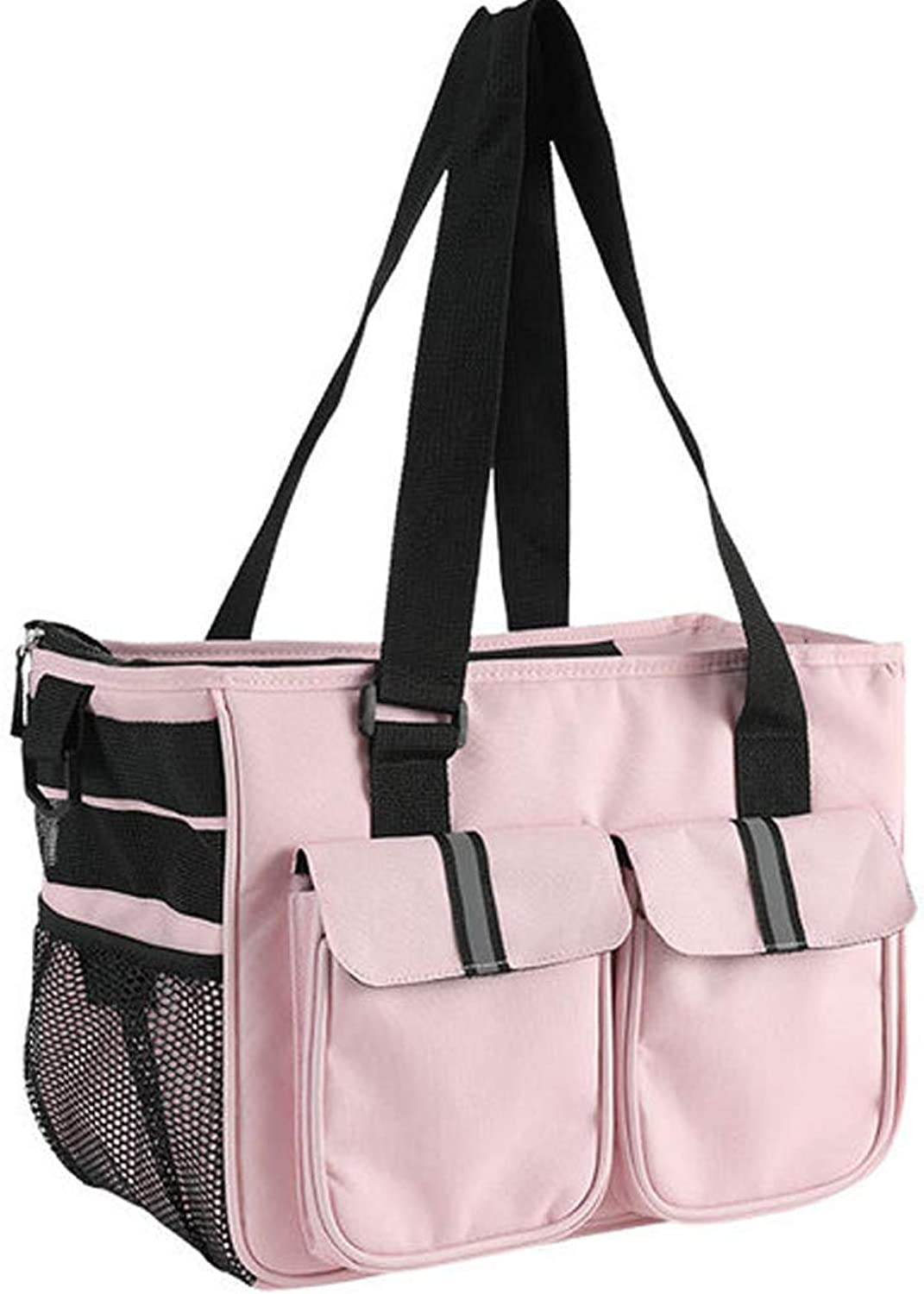 Dog Carrier Bag Pet Tote Bag with Safety Design and Oxford Fabric for Small Dogs Cats Hiking