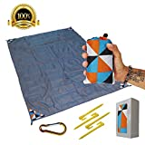 Sand Free Compact Beach Blanket - Pocket Picnic Sheet for Outdoor Multiple Use
