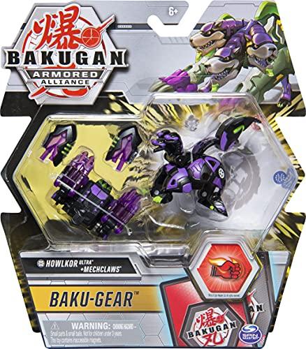 Bakugan Ultra, Darkus Howlkor with Transforming Baku-Gear, Armored Alliance 3-inch Tall Collectible Action Figure
