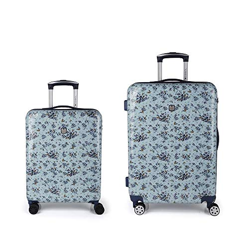 Gabol - April | Rigid Floral Print Travel Suitcase Set with Cabin Suitcase and Medium Suitcase