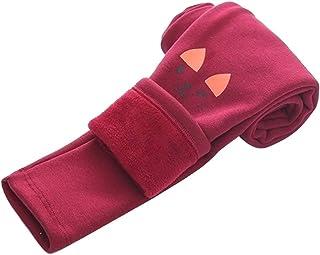 LPATTERN Leggings de Invierno para niños niña Invierno Leggings elástico cálido Grueso Mallas para 4-12 años
