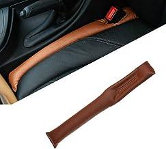 Autofurnish Universal Leatherite Car Seat Gap Spacer Filler Padding (Set of 2) Tan