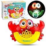 Roebii Juguetes bebé, Juguetes de baño Máquina de Burbujas de Baño Juguetes del Baño de Burbuja con Música Infantil para Niños Pequeños, para Ducha de Niños Baño de Burbujas