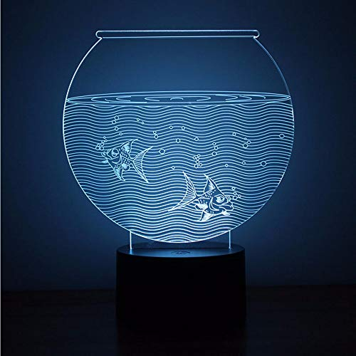 Lifme 3D Led Veilleuse Nouveauté Visuel Usb Lampe De Table Lampe Creative Bébé Sleep Light Fixture Fish Tank Aquarium Décor À La Maison Lampe
