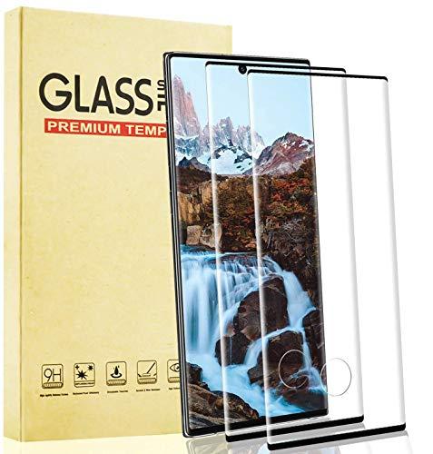 Lixuve Pellicola Vetro Temperato per Samsung Galaxy Note 10 Plus, 2 Pezzi Pellicola Protettiva per Schermo Trasparente HD, Protezione Completa, Durezza 9H, Senza Bolle, Facile Installazione