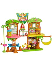 Enchantimals GFN59 – domek dla lalek z papużą i zwierzakiem, zabawka dla dzieci od 4 lat