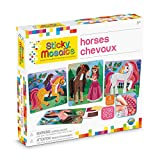 ORB 50993.0 Sticky Mosaics Horses, Multi, Brown/Yellow/Pink/Green, 12' x 2' x 10.75'