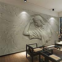 3Dステレオエンボスフィギュア写真壁画壁紙リビングルームの寝室現代のレトロな家の装飾の壁画サラ, 300cm×210cm