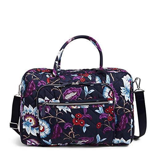 Vera Bradley Women's Performance Twill Lay Flat Weekender Travel Bag, Mayfair in Bloom, One Size