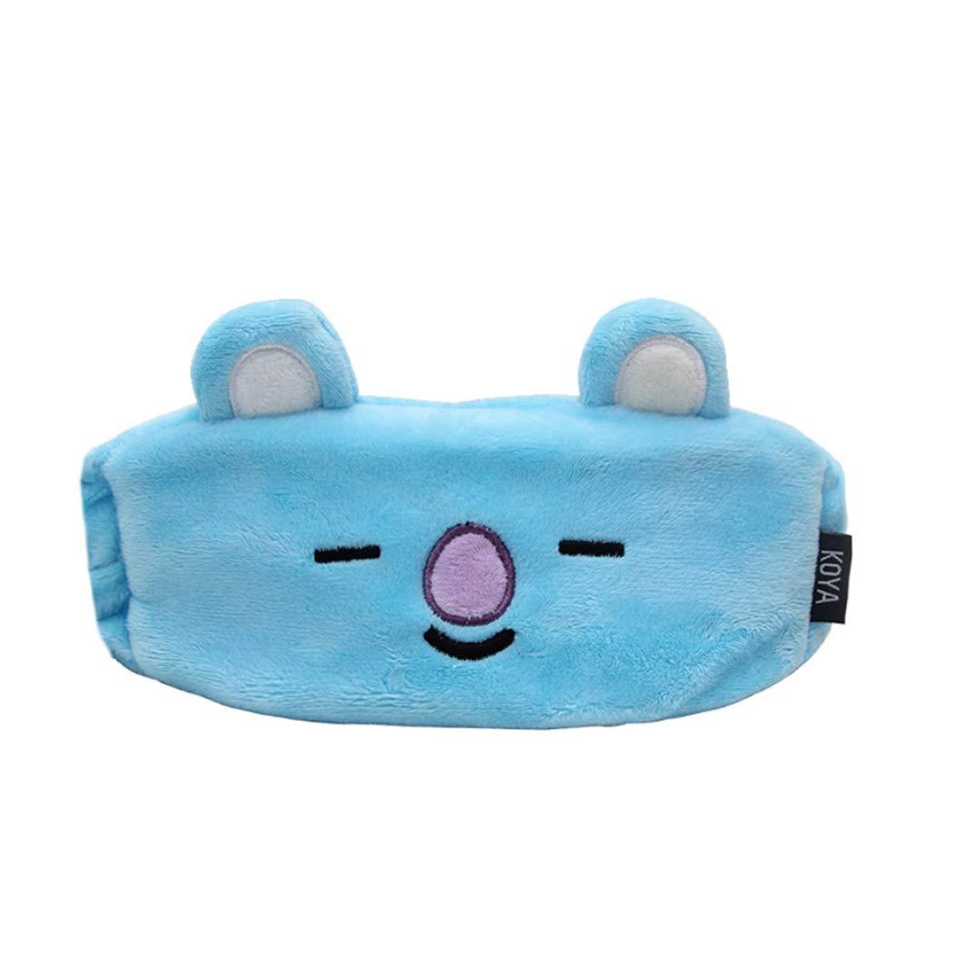 APHT Women Kpop BTS BT21 Bangtan Boys Eye Mask for Sleeping Cute Elastic Coral Fleece for Makeup Shower and Cosplay CHIMMY Cooky KOYA MANG RJ SHOOKY TATA VAN Cartoon Accessories