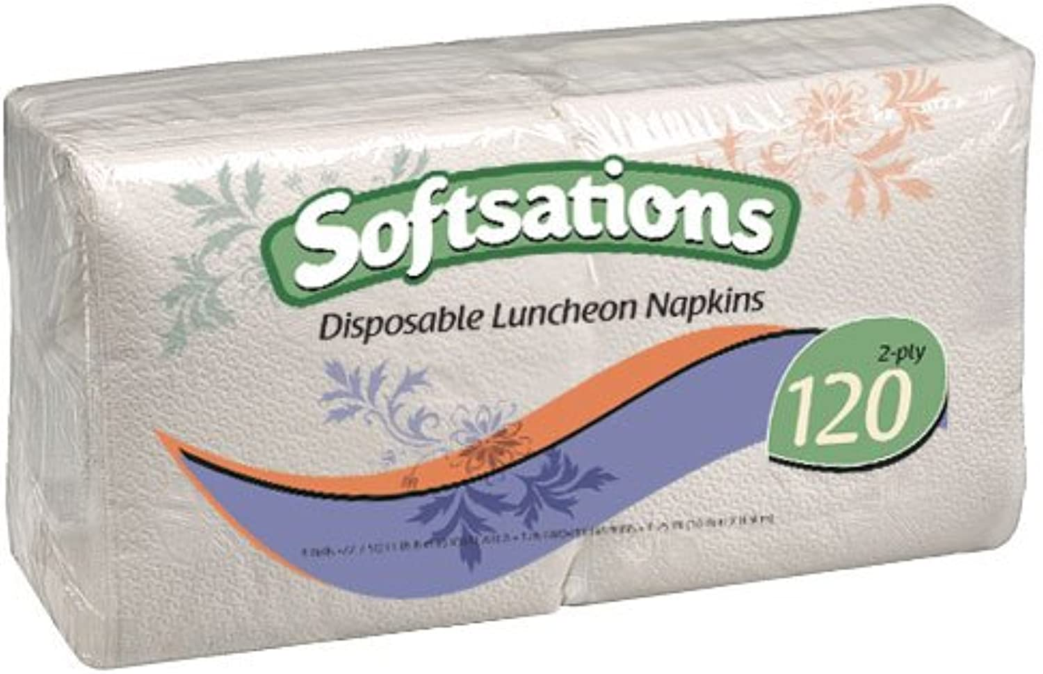 Nicole Home Collection 120-Count 1 4-Fold Lunch Napkin, White