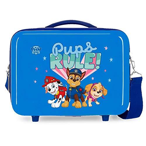Patrulla Canina Paw Patrol Playful Neceser Adaptable Azul 29x21x15 cms Rígida ABS 9,14L