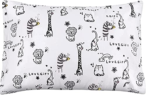 Toddler Pillow with Pillowcase - 13X18 Soft Organic Cotton Baby Crib Pillows for Sleeping - Washable and Hypoallergenic - Toddlers, Kids, Boys, Girls - Perfect for Travel, Cot, Bed Set
