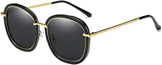 Fashion Men and Women Influx Sunglasses Driving Mirror Outdoor Fishing Sunglasses Black Pink Polarized Sunglasses Retro (Color : Black)