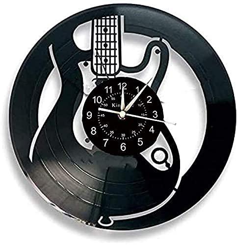 Guitarra electrica Reloj de Pared de Vinilo Regalo Original para el hogar...