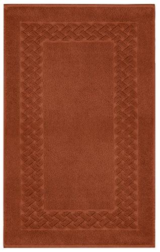Lashuma Tapis de Bain 100 % Coton éponge Royal 50 x 80 cm, Coton, Couleur: Rouille/Marron