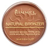 Rimmel London Natural Bronzer Terra Abbronzante Waterproof a Lunga Durata SPF 15, 025 Sun Glow, 14 g