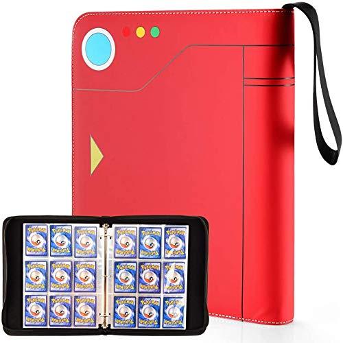 Porta Carte Pokemon, Pokemon Carte Album (9-Pocket), Raccoglitore Carte Pokémon di Trading Card, Baseball, Yu-Gi-Oh, Skylanders, Top Trumps Cards Album, 720 Capacità di Carte