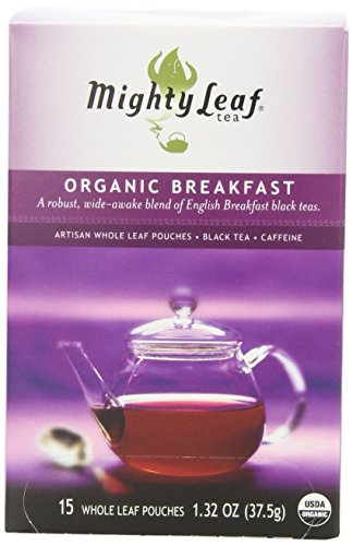Mighty Leaf Black Tea, Organic Breakfast, 15 Pouches (Pack of 3)