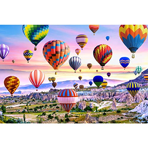 Runlycan Jigsaw Puzzle 1000 Piece for Adults 1000 Pieces Puzzles for Adult Teens Fun Puzzles Games -Hot Air Balloon (70 * 50cm)