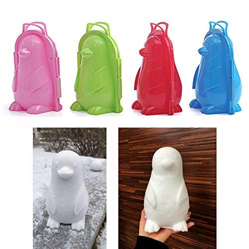 ENticerowts Schnee-Clip, Pinguin-Form, für den Winter und draußen, zum Schnee Zufällige Farbauswahl