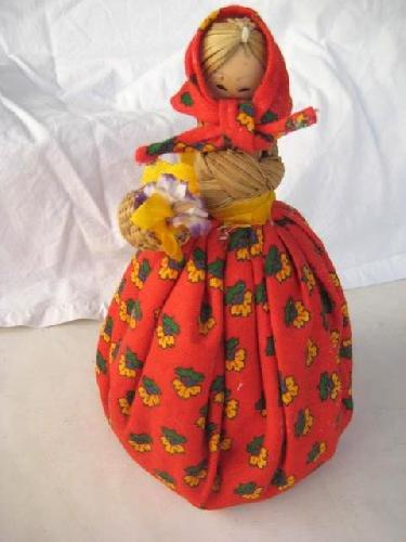 Muñeca - Doll : CAMPESINA. ARTESANIA EN ESPARTO