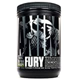 Animal Fury Pre Workout Powder Supplement for Energy and Focus 5g BCAA 350mg Caffeine Nitric Oxide Without Creatine Powerful Stimulant for Bodybuilders 30 Servings, -, Green Apple, , 17.49 Ounce