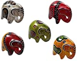 Budawi® - Elefant Figur, Glückselefant aus Speckstein in verschiedenen Ausführungen