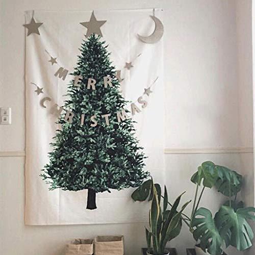 Zecken Weihnachtsbaum, der an der Wand hängt Einfacher Wandteppich, Tapete, Weihnachtsdekoration, Familientapisserie, Feiertag, Weihnachten