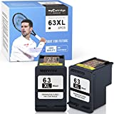 myCartridge SUPRINT Remanufactured Ink Cartridge Replacement for HP 63 XL 63XL use with Envy 4520 4512 OfficeJet 5258 5255 3830 4650 5252 4652 4516 DeskJet 3630 3631 3632 (2 Black, 2-Pack)