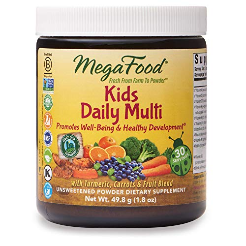 MegaFood, Kids Daily Multi Booster Powder, Promotes Healthy Growth Development, Multivitamin Supplement, Gluten Free, Vegetarian, 1.8 oz. (30 Servings)