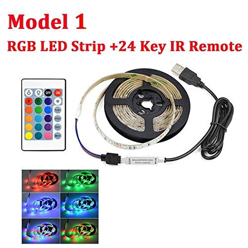 HVTKL lamp RGB LED 2835 SMD 60 LED/m keuken LED-band 1-5 m waterdicht TV-kast decoratie lamp 5 V USB-oplaadkabel