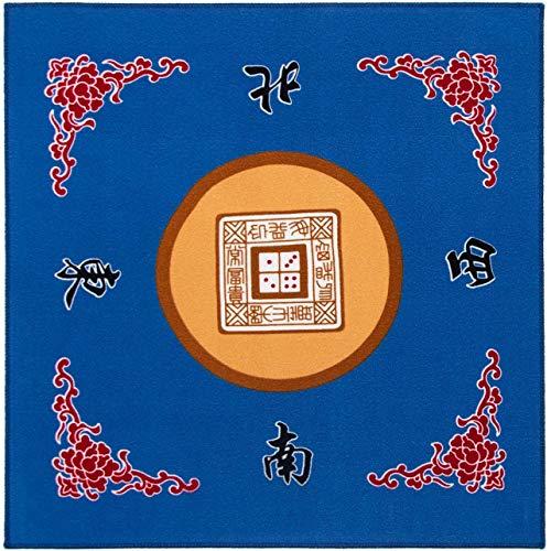 """Tischdecke für Universal Mahjong/Paigow/Poker/Dominos/Spieltisch Cover, rutschfeste Matte 31,5\"""" x 31,5\"""" (80cm x 80cm),Blau"""