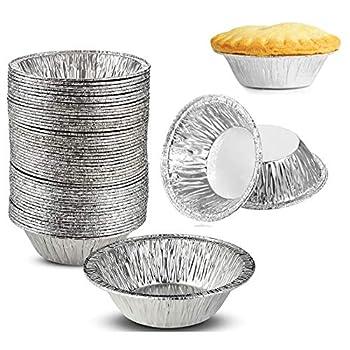 200 Pieces 2.76 Inch Round Mini Pie Pans Individual Pie Tins Mini Disposable Pie Tins Tart Tins for Baking Cooking Supplies