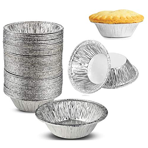 200 Pieces 2.76 Inch Round Mini Pie Pans Small Tin Pans Tart Pie for Baking, Cooking Supplies
