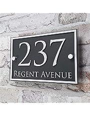 Deurnummers Borden Custom acryl Huisnummer Deur nummer House Aanmelden Appartement Straat en huisnummer Effect Glas Vinyl Sticker (Size : 14cm*21cm)