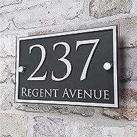 DHDHWL ハウスナンバー カスタムアクリルハウス数ドアナンバーハウスサインアパートの住所影響ガラスビニールステッカー 家番号ドア (Color : Black)