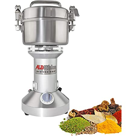 Giraffe-X 2000g 110V Swing Type Herb Grain Spice Grinder Commercial Cereal Mill Grinder Flour Powder Machine,High Speed Stainless Steel,60-350 mesh