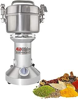 ALDKitchen 350g Electric Mill Herb Grain Grinder 50-300 Mesh Powder Machine 28000 R/Min Superfine Powder Pulverizer for Spice Herbs Grains Coffee Rice Corn Sesame Soybean Fish Feed Medicine (350g)