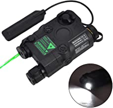 SVDARBPM PEQ-15 Green Dot Laser with White LED Flashlight and IR Illuminator Black
