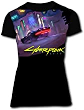 BUZAILIANX Women's Cyberpunk 2077 Racing 3D Print Classic Short Sleeve T-Shirt