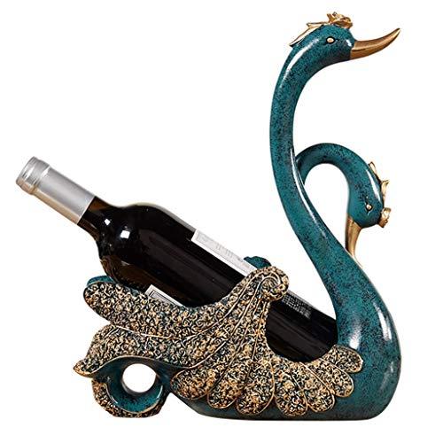 IF.HLMF Botellero decorativo Swan Home Salón Botellero Decoración Moderno Minimalista Resin Crafts, Botellas de Plástico