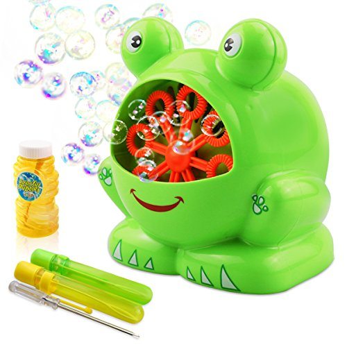 TedGem Seifenblasenmaschine, Bubble Machine für Kinder Indoor und Outdoor Bubble Maker Spiele,...