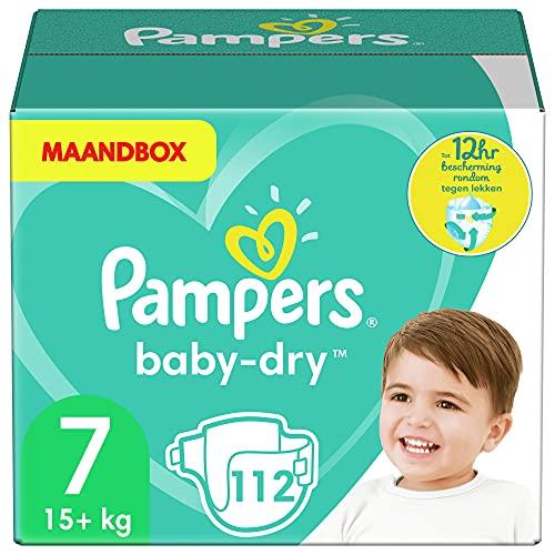 Pampers 81664580 pañal desechable Niño/niña 7 112 pieza(s) - Pañales desechables (Niño/niña, Tape diaper, 15 kg, Multicolor, Velcro, 12 h)