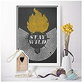 wzgsffs A Burning Man Poster Leinwandbilder Bild Stay Wild