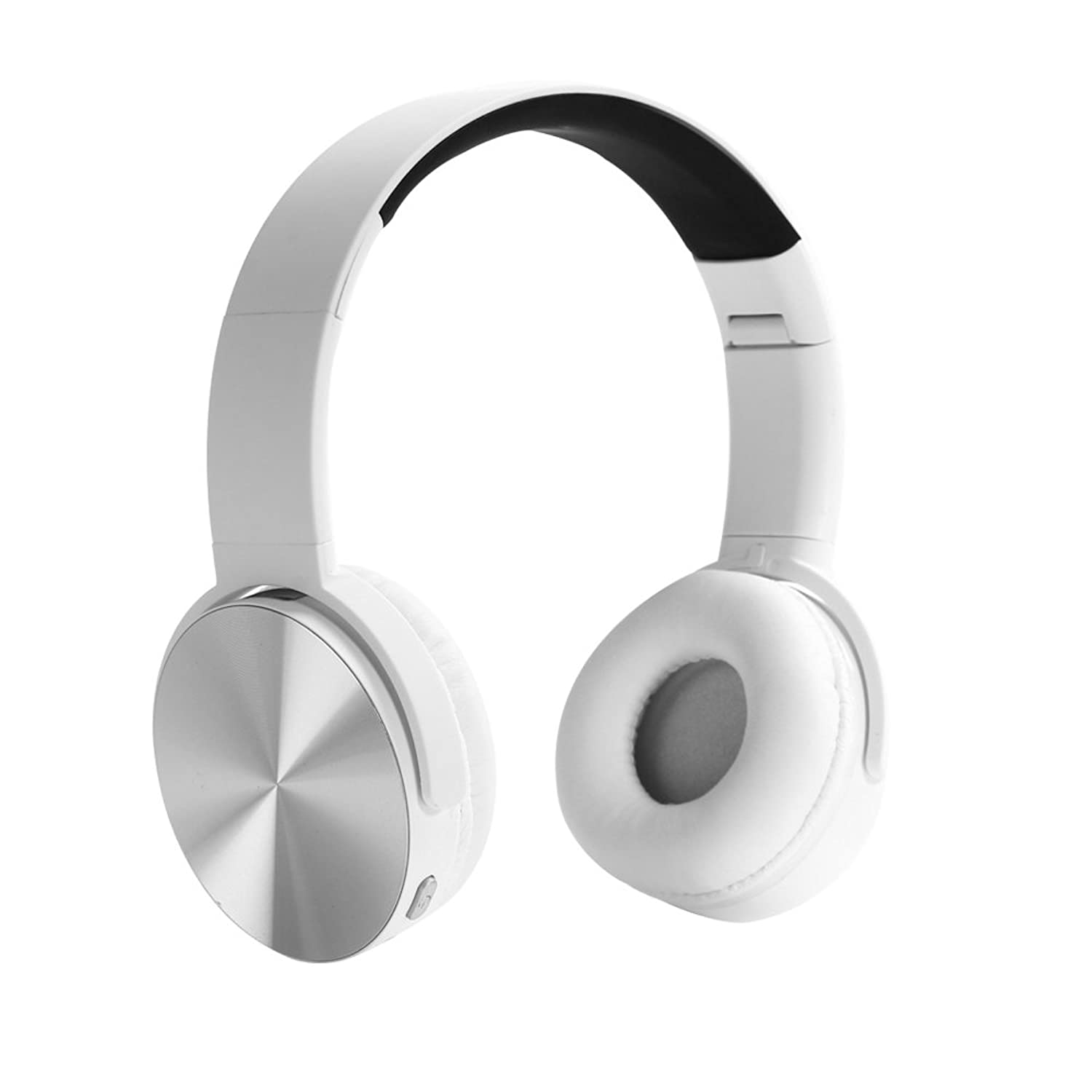 YHhao Wired/Wireless On-Ear Headphones, Noise Canceling Headsets, Foldable Headsets with Volume Control, Built-in Mic for PC, Computer, Laptop, iPhone, Android Smartphone, etc -PearlWhite