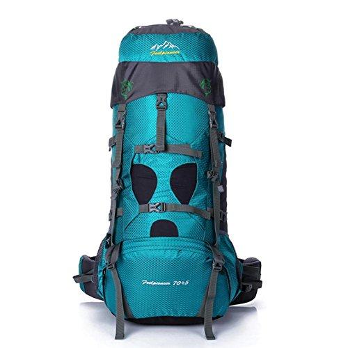 SZH&BEIB Sac à dos de randonnée très grande capacité 70 + 5L pour le sac de camping Voyage en plein air en nylon imperméable , A