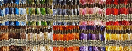Pack de iniciación de DMC artículo 117, 8m de madejas hilo de punto de cruz, elección de 15, 100unidades