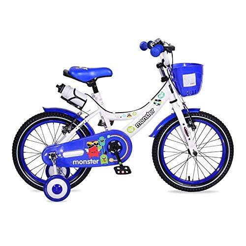Byox Kinderfahrrad 16 Zoll 1681 blau, Stützräder, Frontkorb, Getränkehalter